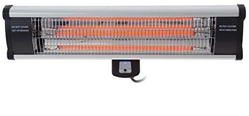 OutTrade Heizung Wand Model carbon fibre und fernbedienung, Schwarz, 65 x 20 cm (Infrarot Heizung Strahler)