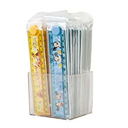 Parteet New Folding Scales with Stancil Pack of 40Pcs for Birthday Party Return Gifts for Kids