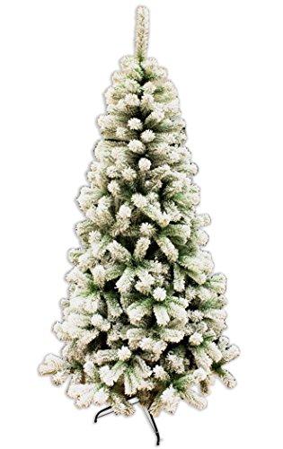 Albero Di Natale H 240.Albero Di Natale New Innevato 240 Cm Abete Natalizio Ecologico Con
