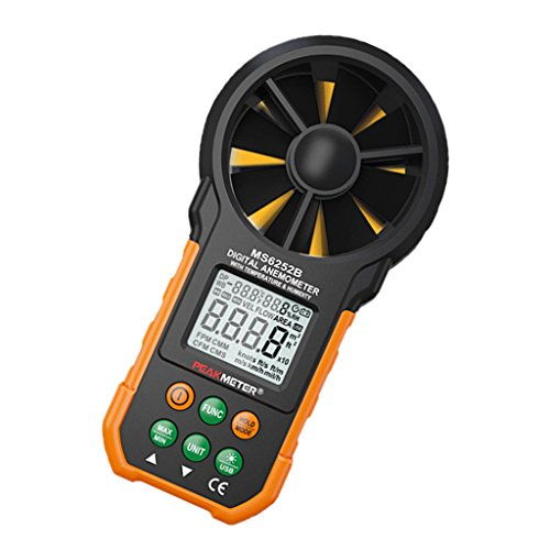 MagiDeal Ms6252a LCD Tragbar Digital windgeschwindigkeitsmesser windmesser Temperaturmessung Anemometer