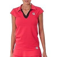 a40grados Sport & Style Picasso Polo de Manga Japonesa de Tenis, Mujer, Rojo, 36