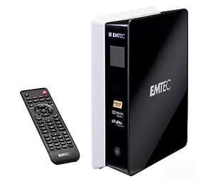 EMTEC Externe Multimedia-Festplatte Movie Cube S800H - 1 TB, Schwarz + USB-Verlängerung Typ A Stecker / Buchse - 2 m - MC922AMF-2M + 4er USB-Hub BL-USB2HUB2B Ethernet, HDMi, HD-DVB-T, USB 2.0