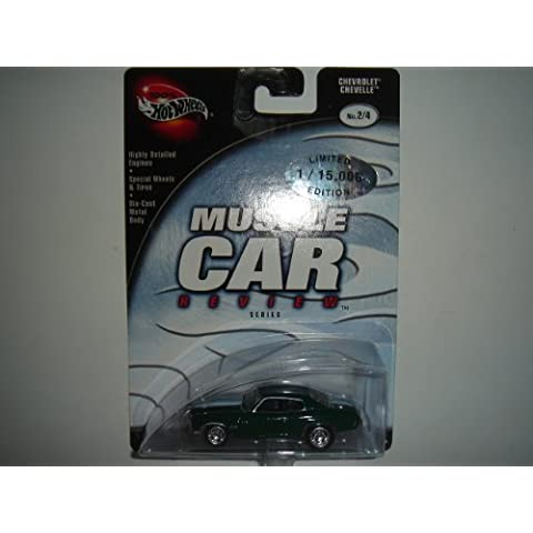 2003 100% Hot Wheels Preferred Muscle Car Review Chevrolet Chevelle Green #2/4 by Mattel