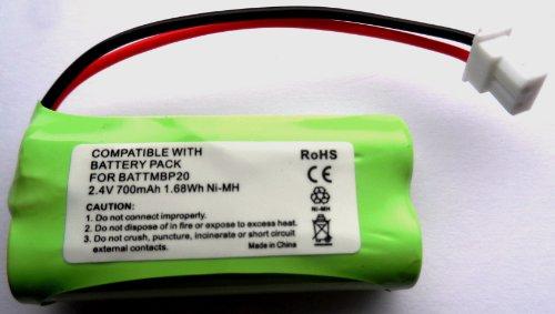 Battery Volt Batterie pour babyphone Compatible avec Motorola MBP20/MNP28 700 mAh 2,4 V