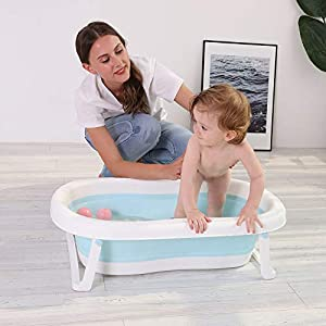 Large Baby Folding Bathtub Outdoor Travel Collapsible Basin Portable Space-Saving Bath Tub Foldable Washbasin Bathing Tub Home Accessories