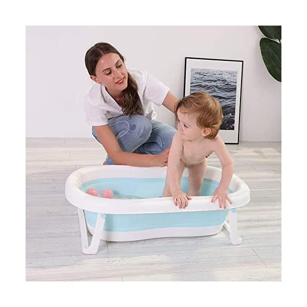 Large Baby Folding Bathtub Outdoor Travel Collapsible Basin Portable Space-Saving Bath Tub Foldable Washbasin Bathing Tub Home Accessories 3