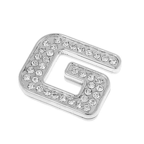 MagiDeal Rhinestone Diamant DIY 3D Zahlen 0-9 Briefe Buchstaben Alphabet A-Z Aufkleber Sticker Lernspiel Haus Dekoraion - Silber G (Nummer Wandtattoos Buchstaben Und)
