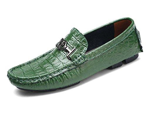 Herrenschuhe Flache Müßiggänger Leder Fahr Schuhe Sicherheitsschuhe Große Größe Casual Formale Schuhe ( Color : Weiß , Size : 50 )