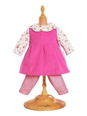 Corolle W9044 - Vestido de terciopelo para muñeca de 42 cm, color rosa por Corolle