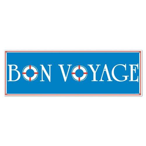 Beistle Bon Voyage Banner, 152 x 53 cm 1 Teil 5' x 21
