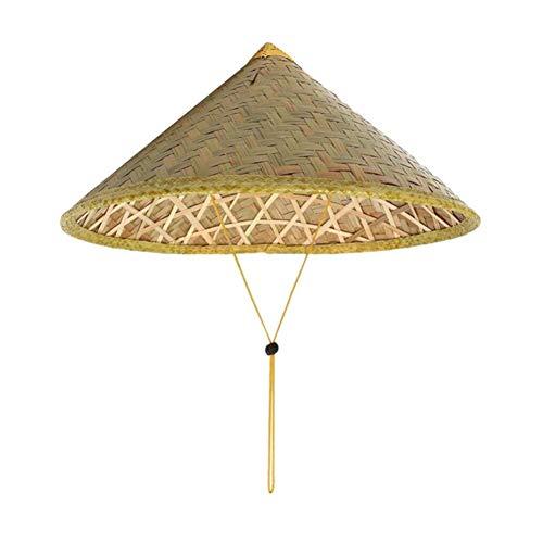 HUOLIMAO Handgemachte Eimer Hut Weben Strohhut Chinesischen Stil Bambus Rattan Hüte Mode Fischerhut Outdoor Frauen Männer Eimer Kappe
