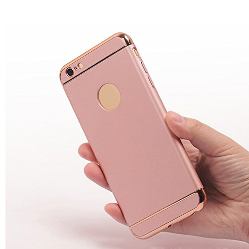Custodia per iPhone 5S iPhone SE/5,SKYXD Ultra Sottile Leggero Luminosa Placcatura Case Cover Resistente Antiurto Rigida Dura Protettiva Custodia per iPhone SE iPhone 5S/5 Guscio Protettivo Coperture  Oro Rosa