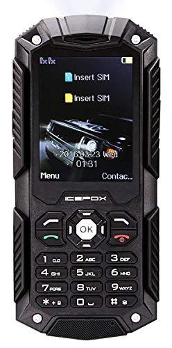 icefox Dual SIM Outdoor Handy,2,4 Zoll Display,IP68 Wasserdicht,Stoßfest, Rugged Handy Ohne Vertrag mit Lautem Lautsprecher