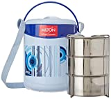 Milton Econa 3 Stainless Steel Tiffin Box with Bag, Blue