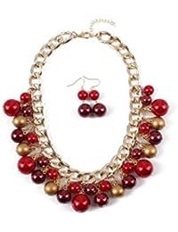 28a194794048 Amazon.es  Pendientes Rojos - Collares   Mujer  Joyería