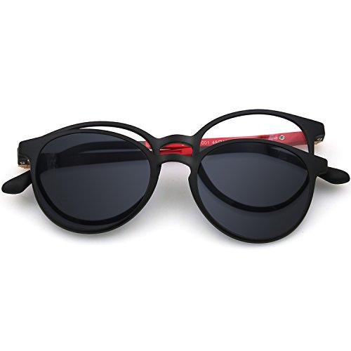ZENOTTIC 2 en 1 Clip magnético en gafas de sol para gafas graduadas Hombres Marco flexible ULTEM gafas polarizadas en gafas para mujer