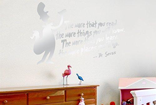 CUT IT OUT Dr Seuss mehr, DASS Sie mehr Dinge Lesen, Wissen Sie Wand Sticker Kunst Aufkleber-Groß (Höhe 57cm x Breite 86cm) (glänzend) Remasuri (Dr. Seuss Lesen Wandtattoos)