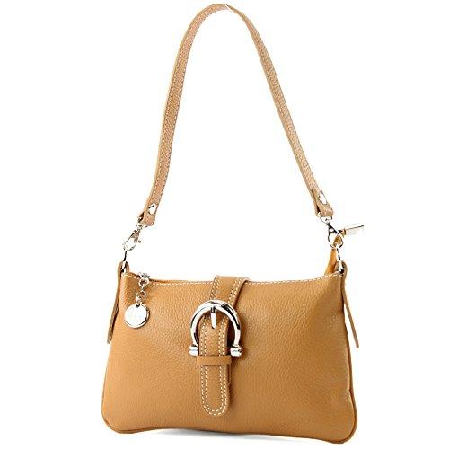 modamoda de - ital Ciudad- / bolso de hombro de cuero T05 pequeña, Color:camello
