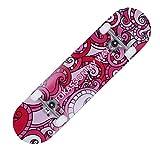 ZO MEBER Skateboard,Longboard,Drop-Through Cruiser Komplettboard Mit Speed Kugellager T-Tool