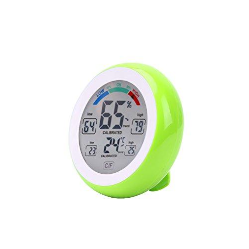 Preisvergleich Produktbild Qotone Digital Thermometer Hygrometer °C / °F Temperatur-Feuchtigkeitsmessgerät Max Min Wert Trendanzeige