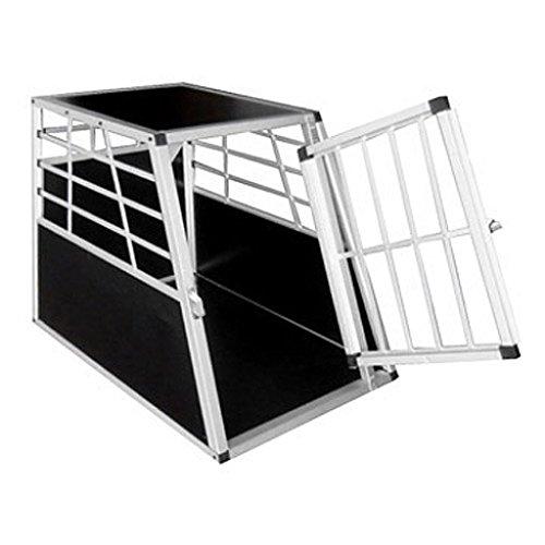 Anself Alu Hundetransportbox Hundebox 65x91x70 cm