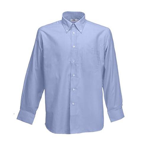 Herrn Long Sleeve Oxford Shirt von Fruit of the Loom