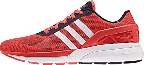 adidas Cloudfoam Flow, Chaussures de Sport Homme, Noir Rouge / blanc (rouge brillant / blanc Footwear / bleu marine collégial)