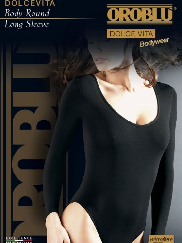 Oroblu Damen Langarm-Body Schwarz