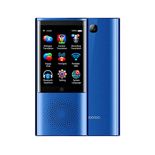 ETbotu Boeleo Voice Translator Smart Business Travel AI Translation Machine 2.8 Inch Screen 1G+8G 45 Languages Translator blue