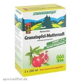 Schoenenberger Granatapfel Muttersaft, 3 x 200 ml