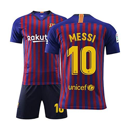 FNBA # 10 Messi 2019-2020 Saison globales Fußballtrikot, Fútbol Club Barcelona Trikot und Shorts für Kinder und Jugendliche-2-S