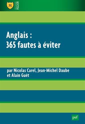 Anglais : 365 fautes à éviter par Jean-Michel Daube