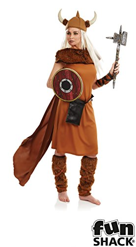 Fun Shack Damen Costume Kostüm, Womens Viking, ()