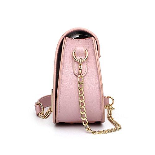 Frauen-Art- Und Weiseschulter-Beutel-Quiltenketten-Kreuz-koreanische Damen-Handtasche,Gray Purple