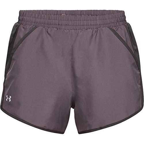 Under Armour Damen Shorts UA Fly-By, ultraleichte und atmungsaktive Sporthose, schnelltrocknende kurze Hose für Frauen mit loser Passform (Fit-yoga-hosen Relaxed)