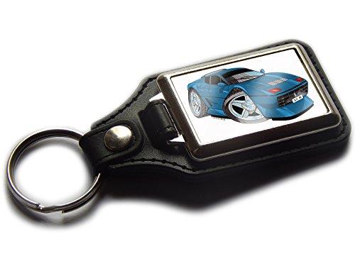 Ferrari 512BB Classic Sport Auto Premium Koolart Leder und Chrom Schlüsselanhänger wählen Sie eine Farbe., blau