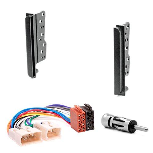 CARAV 11-039-22-6 Doppel DIN Autoradio Radioblende DVD Dash Installation Kit für Celica (T23), MR2 (ZZW30), RAV4 (ACA/ZCA) mit ISO Adapter Antennenadapter