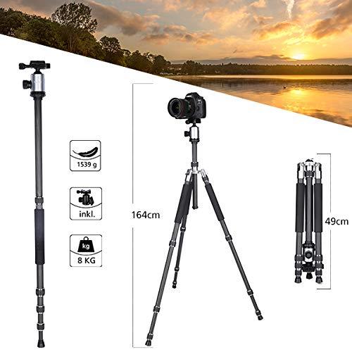 Le trépied pour caméra en carbone haut de gamme