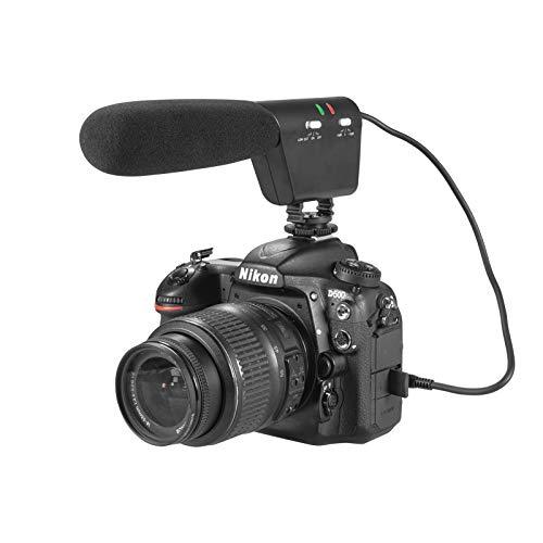Kamera Flinten Mikrofon Interview Aufnahme VideoMicro für Canon Nikon Sony DSLR Kamera DV Camcorder (3,5 mm-Schnittstelle) ()