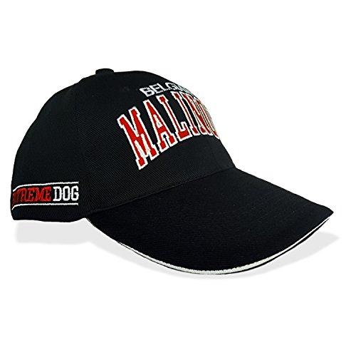 Siviwonder Malinois Cap - Mütze Stickerei Hund Dog K9 ExtremeDog schwarz - rot -