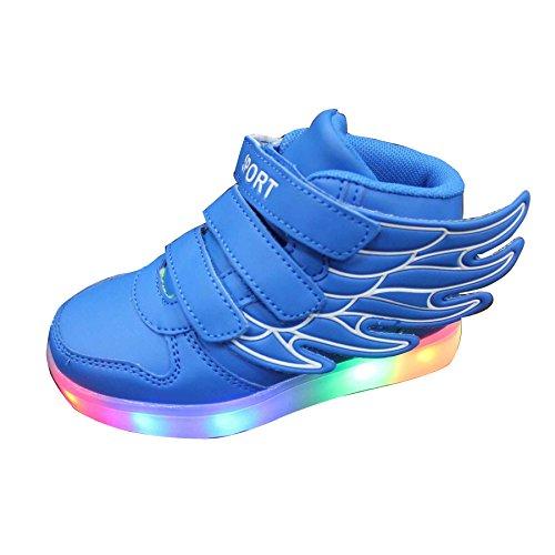 Gaorui Kinder Junge Mädchen Led Schuhe Herren Turnschuhe Damen Farbwechsel Leuchtet Sohle Sneaker Rot