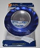 EXTRA Set Tavola -Blu Metallizzato Glitter Argento- 10 Sottopiatti +10 Piattini +1 Tovaglia in TNT- Coordinato tavola USA e Getta Non Solo Natale