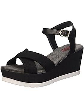 SHOOT Damen Shoes Sh-160181b Sommer Keil Leder Sandale Plateau Schuhe
