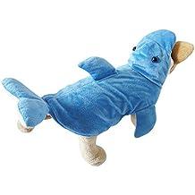 OMEM tridimensional delfín de disfraces de Halloween, Navidad vestido de punto blando de invierno diseño de la aleta de espesor pelo de la esponja (S, bule)