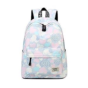 Joymoze Moderna Mochila de Ocio para Niñas Mochila Escolar para Adolescentes Mochila Bolso Estampado para Mujer Azul 851