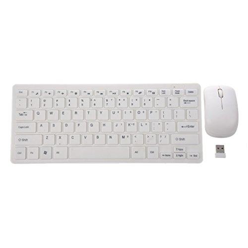 SODIAL(R) 2.4GHz Wireless Funk Tragbare Keyboard Tastatur und Mouse Maus PC Set QWERTY (Fly Maus Tastatur)