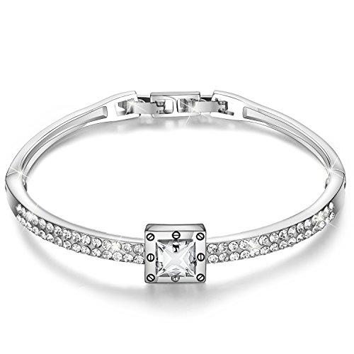 Menton Ezil Spirituelle Führung 18K Roségold Swarovski Kristall Armreif Zirkon Diamant Verstellbares Armband Damen Schmuck Geschenke - Frauen Für Diamant-gold-armbänder