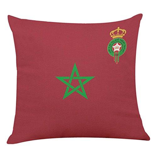 Taie d'oreiller, la 2018 Russie Coupe du Monde de la FIFA Home Decor Housse de Coussin Football Coussins (Maroc)