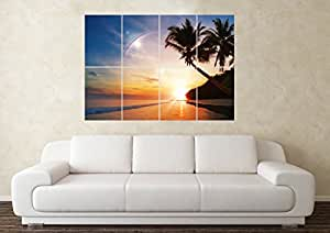 Grand Palmier Poster mural coucher art picture print