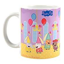 Peppa Pig Festsaal - Tazza in ceramica, 320 ml, 320 ml